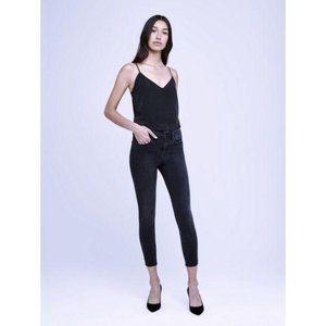 L'Agence Margot High Rise Skinny Jean Black Fog 29